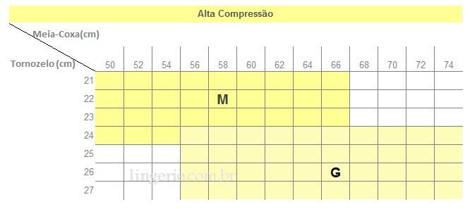 6e02c721f Meia Kendall 7 8 Alta Compressão (1713) Sem Ponteira    lingerie.com.br